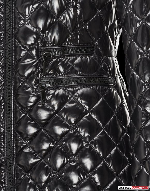 Moncler Grandval Women Shiny Down Quilted Parka Black Sale