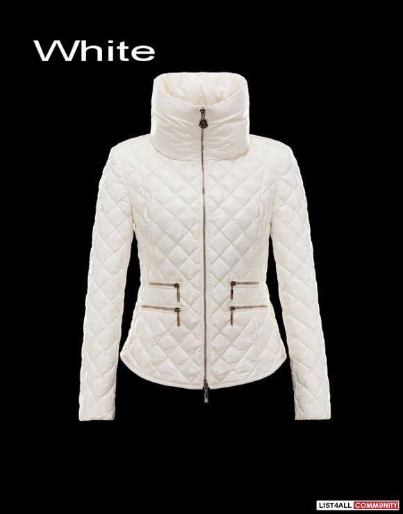 Moncler Guery Women Lozenge Quilting Lacquered Nylon Down Jacket USA