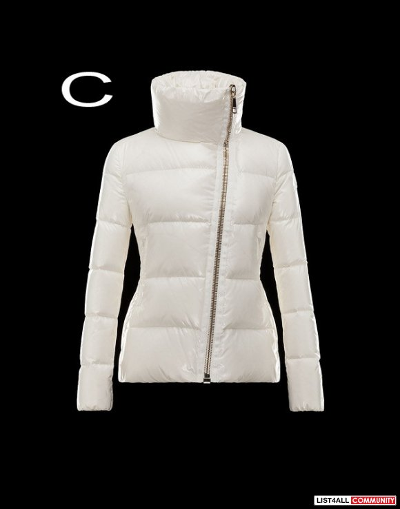 Moncler Ilay Women Chunky Gold Zip Bright Down Proof Jacket