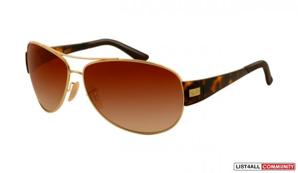 Ray Ban RBSUN3467 Sunglasses Gold Frame Brown Gradient Lens
