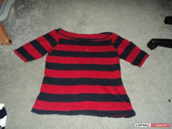 F21 red&blue stripped top S