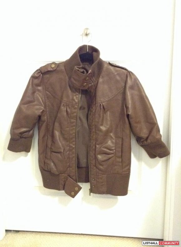 leather 3/4th jacket