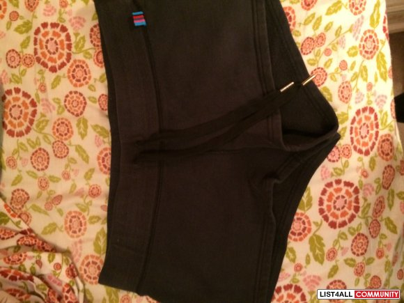 Aritzia TNA Black Cotton Shorts
