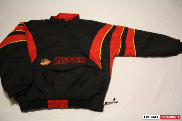 90's Vancouver Canucks pullover by Starter --- $75firm