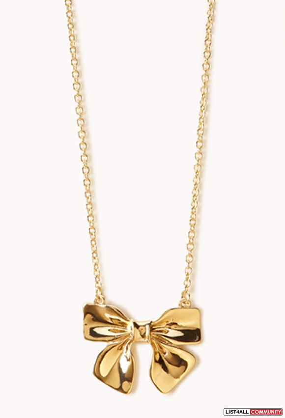 BNWT Forever 21 Bow Necklace