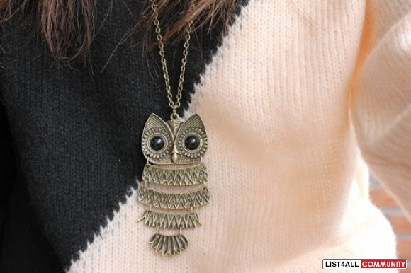 Forever 21 Owl Necklace