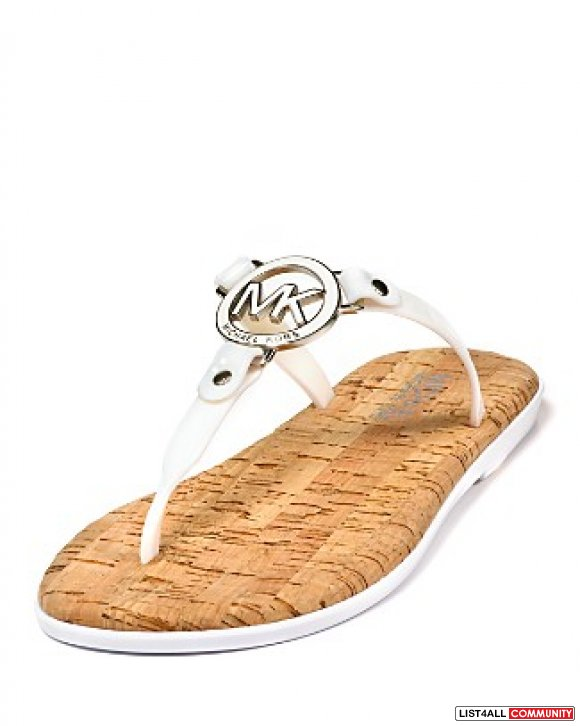Authentic Michael Michael Kors MK Charm Jelly Sandals
