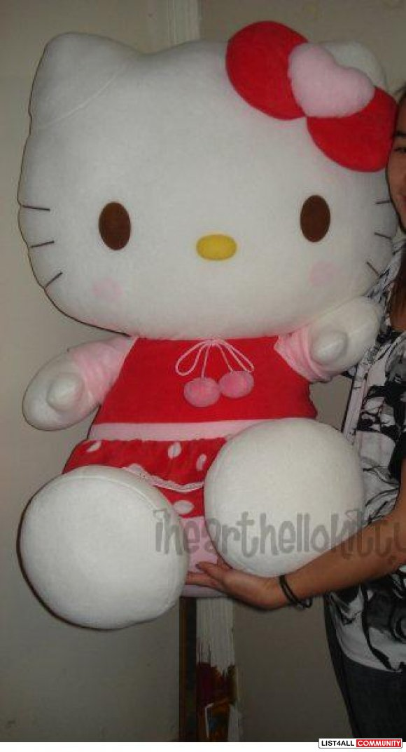 AUTHENTIC RARE NWT! Giant ~3ft Tall Hello Kitty Plush Doll from Sanrio