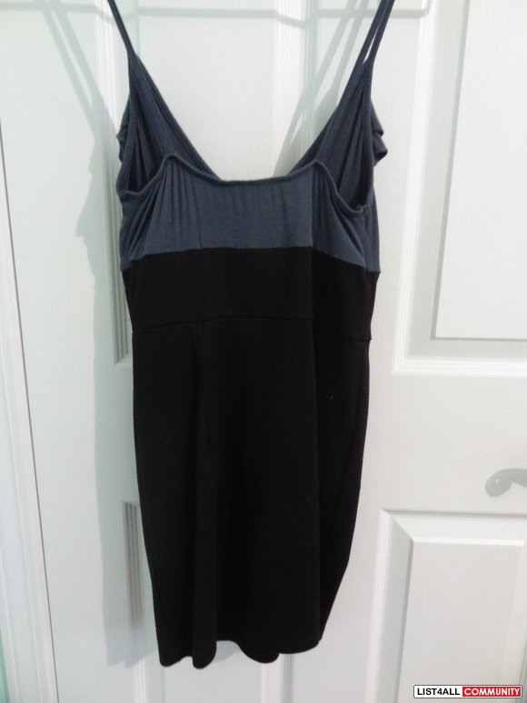 Sirens Dark Grey Ruffled Mini Dress Sz. XS