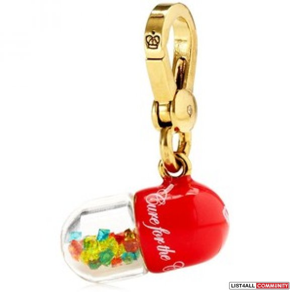 JUICY COUTURE SMALL PILL CAPSULE CHARM