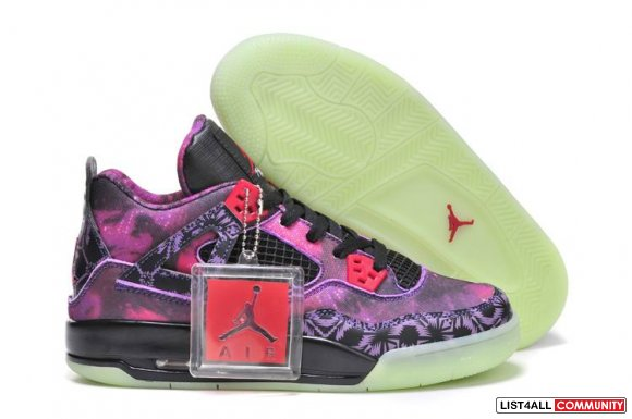 Purple Red Jordan Retro 4 Cheap On http://www.cheapsjordan3.biz