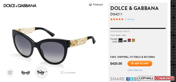 D&G Sunglasses - Womens