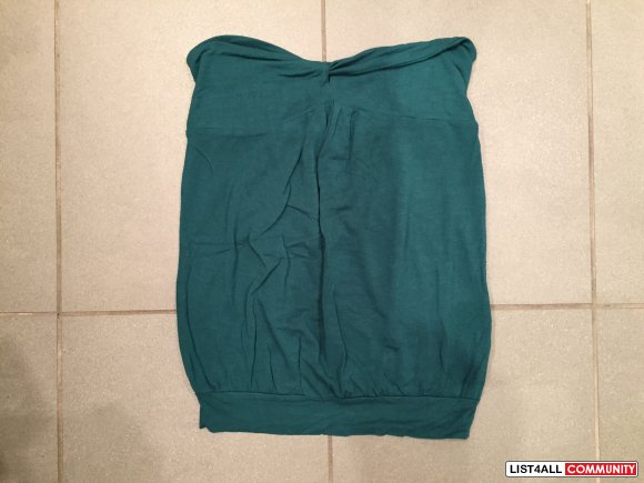 WILFRED BY ARITZIA Teal Tube Top