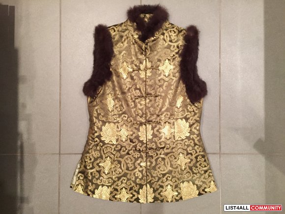 Chinese Traditional Vest with Fur