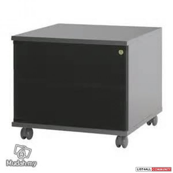 ikea kaxas tv bench with glass door wheels side table noname list4all. Black Bedroom Furniture Sets. Home Design Ideas