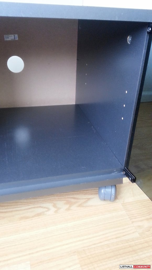 Ikea Kaxas Tv Bench With Glass Door Amp Wheels Side Table
