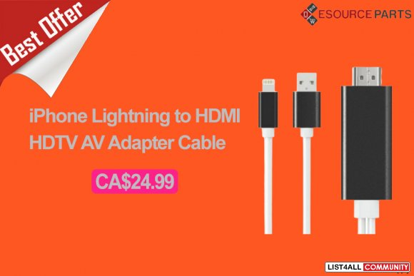 iPhone Lightning to HDMI HDTV AV Adapter Cable