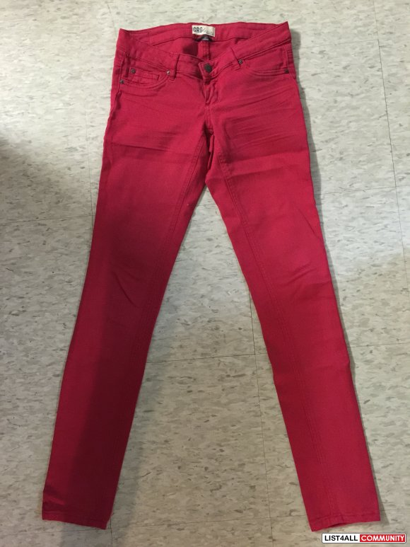 Garage Red Jeggings