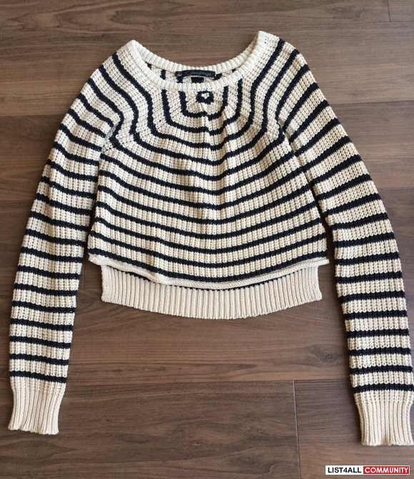 Patterson J. Kincaid Melinda Cropped Sweater (Size S)