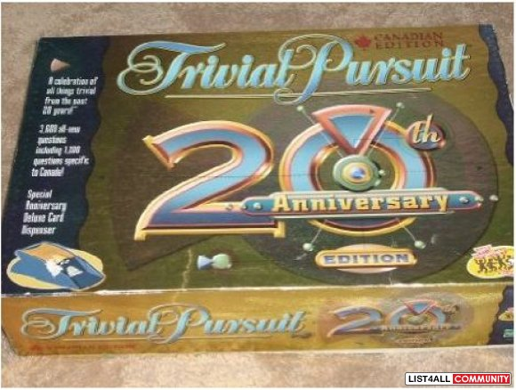 TRIVIAL PURSUIT 20th Anniversary Canadian Edition 2002