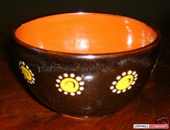 Floral Ceramic Bowl by H.K.Hakenjos Kandern Germany