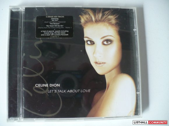 Celin Dion - Let's talk about love
