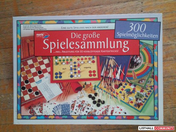 board game set 300 in 1 - German edition