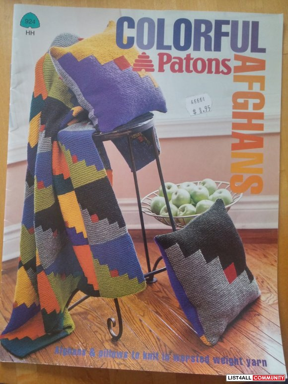 Patons Colorful Afghans #924