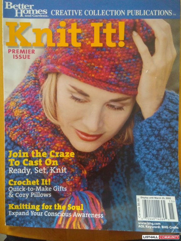 Better Homes Knit It! Premier Issue 3/2002