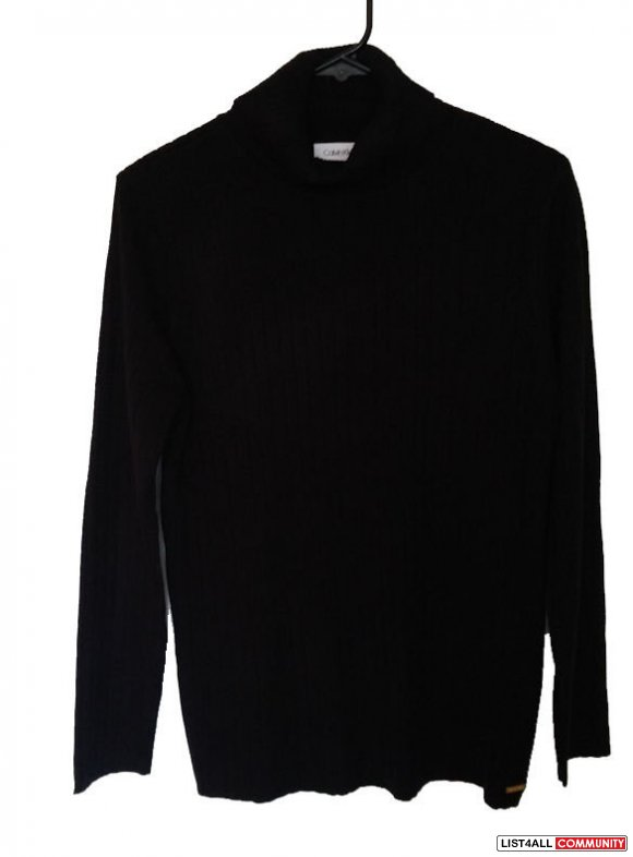 CK Turtleneck Ribbed Sweater M