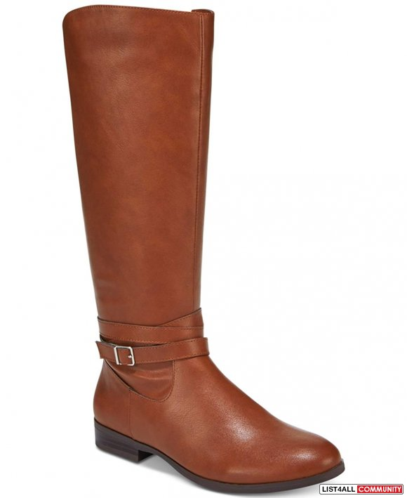 Style & Co. Womens Keppur Closed Toe Riding Boots 9.5