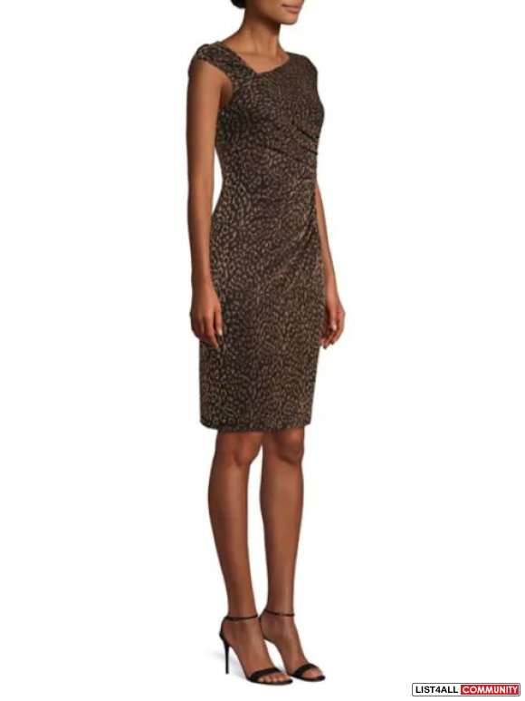 Vince Camuto Glitter Sheath Party Dress black/gold 12