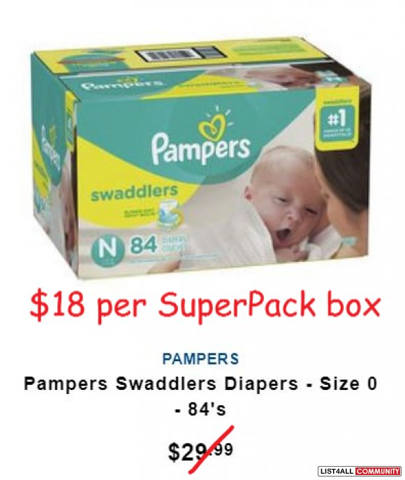 NEW Pampers Super Pack Diapers