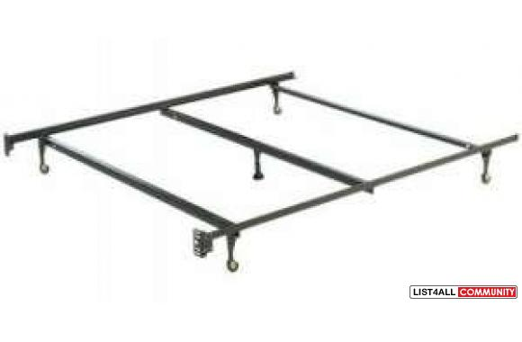 Bed rail frame with Rollers use for queen/double or twin beds