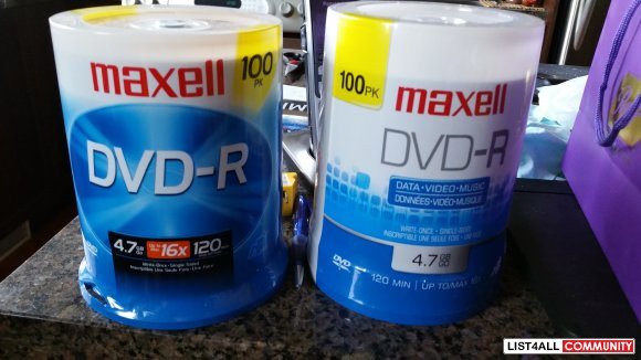 Maxell DVD-R 100 Pack