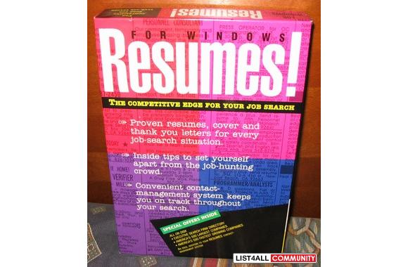 Resumes! for Windows PC software