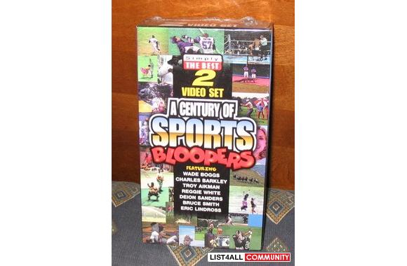 A Century of Sports Bloopers (2 VHS video set)