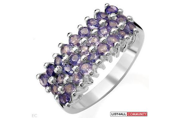 Beautiful Ring 1.35ctw Genuine Tanzanite Beautifully Designed in