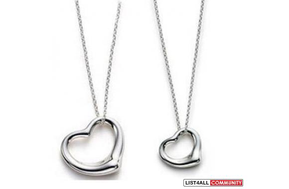 "925 Silver Pair Amatory Loving Heart Neckless 18""You will recieve"