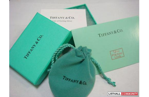 Tiffany Square T&Co Ring 925 Size 8