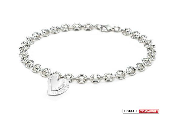 Tiffany Double Heart Neckless 925 Silver
