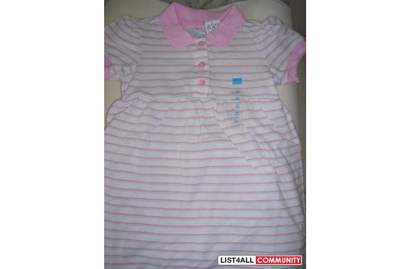 NWT - Girls Polo DressSize 24 monthsPink Polo dress has an ice cream c