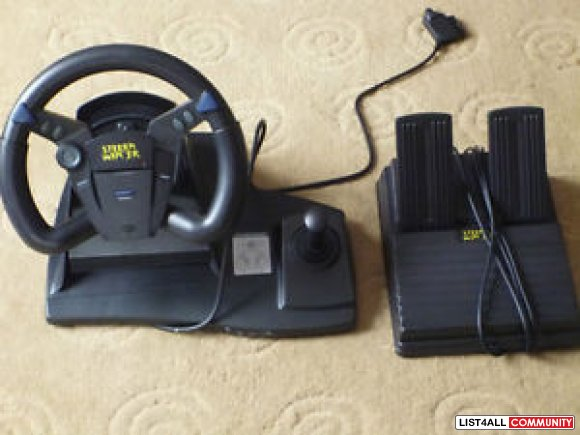 Steer n Win Jr Steering wheel/racing pedal for PlayStation/Nintendo 64