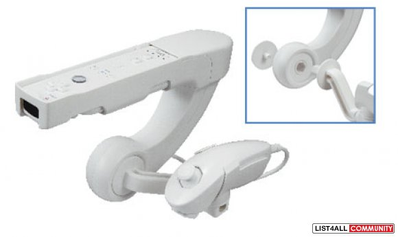 Nintendo Wii Controller Accessory: Fishing Rod/Gun/Stand/Sensor Bar