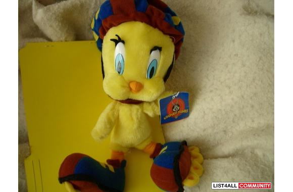 LOONEY TUNES STUFFED TWEETY BIRD! Made by ACE, Play by Play Novelties