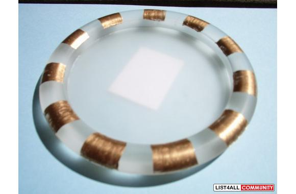 HOME ACCENTS Brand new ashtray with gold covered trim around perimeter