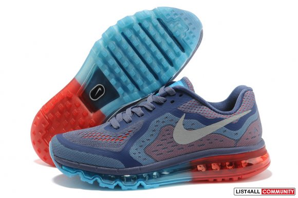 Cheap Air Maxs 2014 Blue Orange Grey On www.cheapairmaxs2013.com