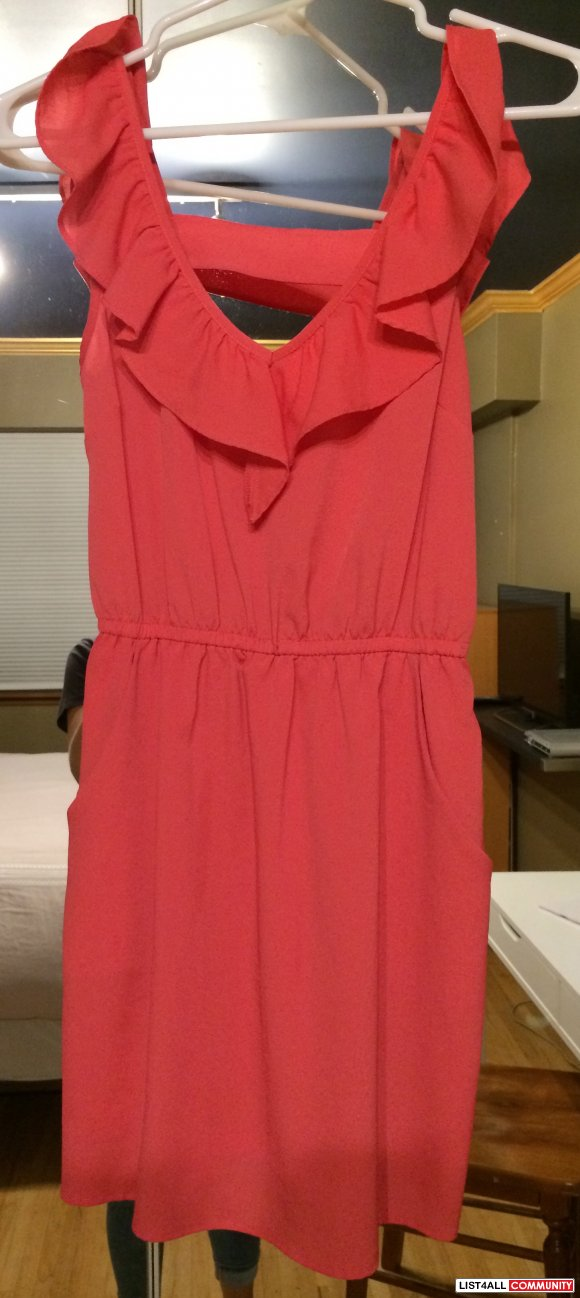 Forever 21 Coral Dress Size XS