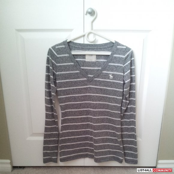 Abercrombie & Fitch Long Sleeve Striped Shirt BNWOT