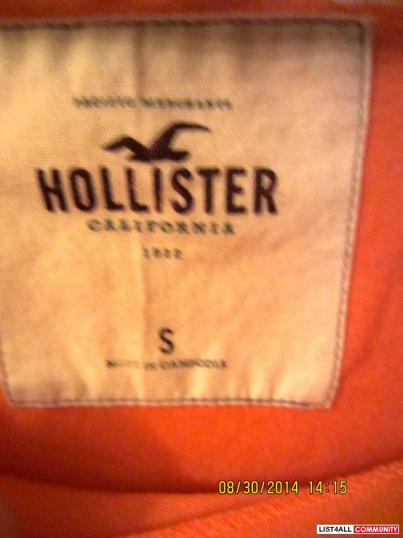 Hollister Orange Graphic Top